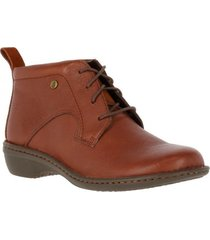 botin leather sajon café hush puppies
