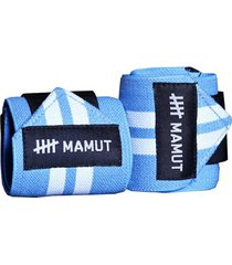 munhequeira mamut strong wrap azul- crossfit e lpo