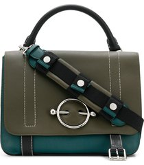 jw anderson disc-hardware tote bag - green