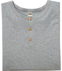 shirt met lange mouw van bio-katoen met knoopsluiting, grijs 7