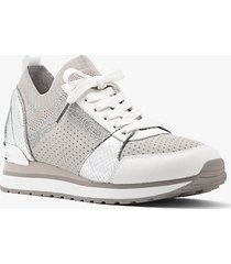 mk sneaker billie in maglia metallizzata - alluminio (grigio) - michael kors