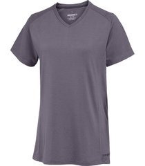 wolverine women's piper short sleeve tee pewter, size s