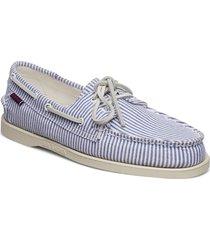 docksides portland shirt båtskor skor blå sebago