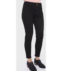 jeans color dos botones negro curvi