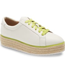 women's halogen x atlantic-pacific theodora platform sneaker, size 10 m - white