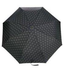 moschino guarda-chuva com logo - preto