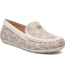 marley driver - signature c jacquard loafers låga skor creme coach
