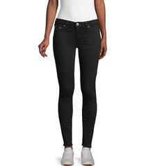 true religion women's jennie mid-rise super-skinny leg jeans - black - size 27 (4)