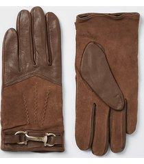 river island womens beige leather ri gloves