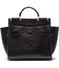dolce & gabbana sicily 62 tote bag - black