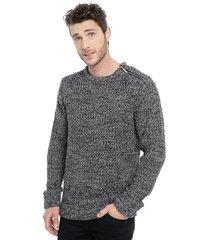 sweater brave soul azul - calce regular