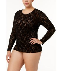 hanky panky plus size long sleeve top 128lx