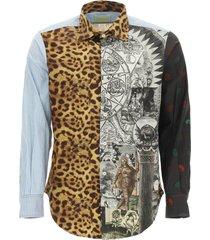 aries megablaster patchwork shirt