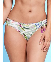 vintage palm ruched bikini brief
