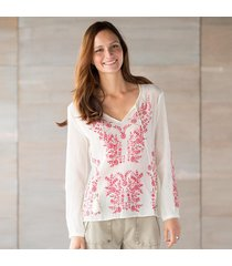 tolani ashley embroidered top