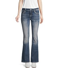 faded flared bootcut jeans