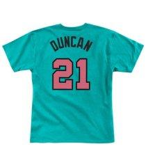 mitchell & ness men's san antonio spurs reload player t-shirt tim duncan