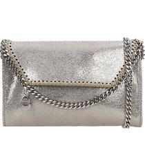stella mccartney falabella shoulder bag in platinum faux leather
