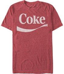 coca-cola men's classic vintage-like swoosh short sleeve t-shirt