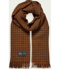 scotch & soda lightweight wool-blend checked scarf