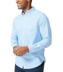 nautica men's classic-fit gingham check poplin shirt