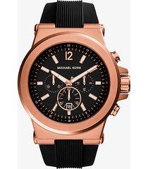 mk orologio dylan oversize tonalità oro rosa con cinturino in silicone - oro rosa (oro rosa) - michael kors