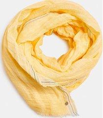 pañuelo mezcla lino amarillo esprit