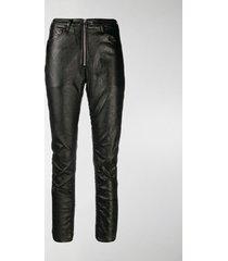 marcelo burlon county of milan shiny biker trousers