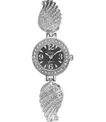 orologi da polso al quarzo moda in acciaio inox strass ali cinturino orologi gioielli eleganti per le donne