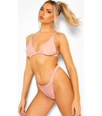 essentials driehoek bikini top, poederroze