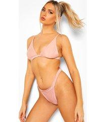 essentials driehoek bikini top, poederroze
