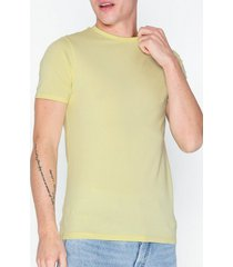 river island ss muscle crew t-shirts & linnen yellow