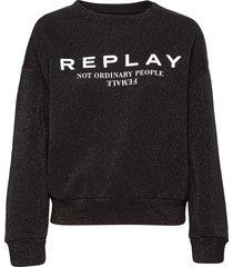 sweater gebreide trui zwart replay