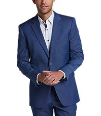 perry ellis premium blue tic slim fit tech suit