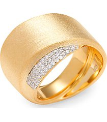 goldplated sterling silver & simulated diamonds ring