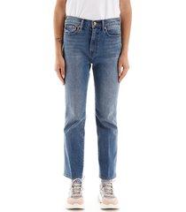 tory burch jeans met vijf zakken