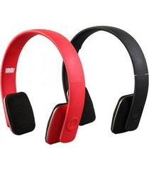 audifonos, firebox plegable auricular inalámbrico bluetooth hifi-rojo