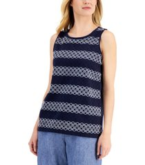 charter club eyelet tank top, created for macy's