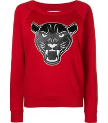 quantum courage panther head sweater - red
