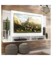 "painel tv 60"" c/ suporte, espelho e nichos tókio multimóveis branco"