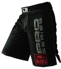 pantaloneta deportiva hombre mma boxeo kick boxing negro