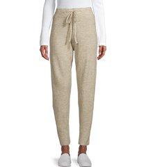 lucca women's heathered drawstring jogger pants - pistachio - size m