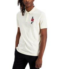 hugo men's dakame graphic polo shirt
