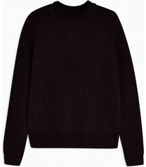 mens red burgundy and black twist chunky knitted sweater