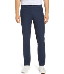 men's johnnie-o cross country classic performance five-pocket pants, size 30 x 32 - blue