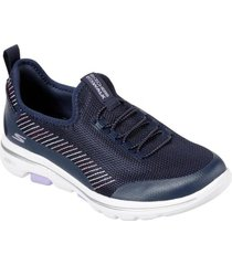 zapatilla go walk 5 - prolific azul marino skechers