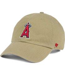 '47 brand los angeles angels of anaheim khaki clean up cap