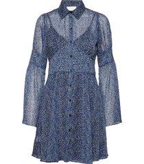 2nd gaia dott dresses shirt dresses blå 2ndday