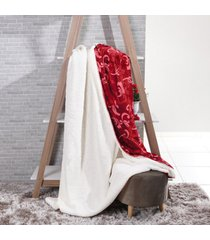 manta cobertor king sherpa l㣠de carneiro + flannel imperial - tessi - estampado - dafiti