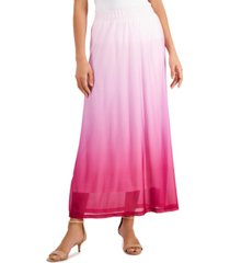 jm collection ombre dip-dyed maxi skirt